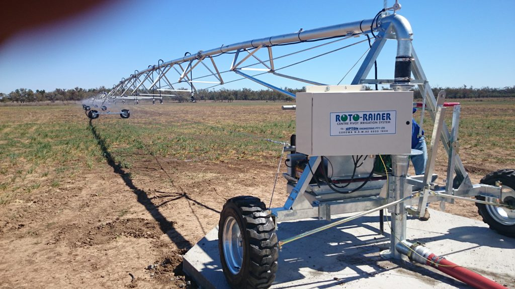 Upton Low Profile Aluminium Centre Pivot for Alan Schutt, St George, Qld2