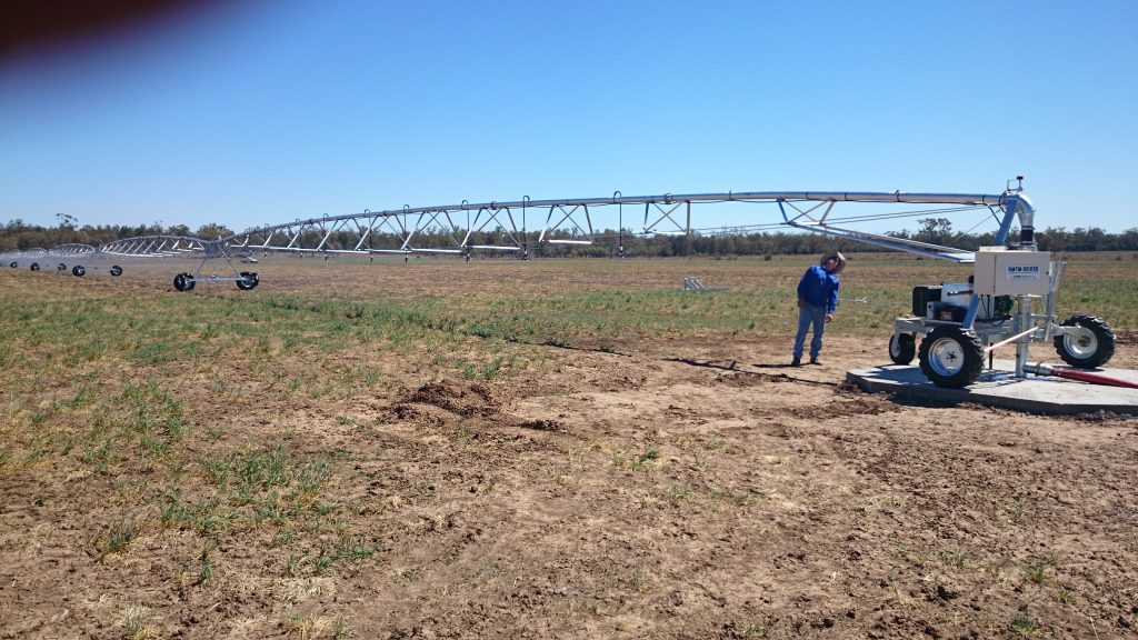 Upton Low Profile Aluminium Centre Pivot for Alan Schutt, St George, Qld3